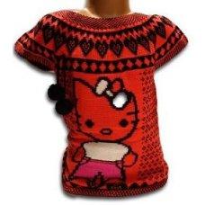 """Вязанка без рукавов для девочки """"Китти"""""""