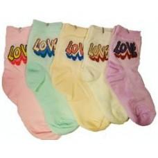 """Носки для девочки """"Love"""", бамбук"""